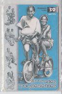 FRENCH POLYNESIA TAHITI 2000 CYCLING ATTITUDES POLYNESIENNES USED PHONE CARD - Polinesia Francese
