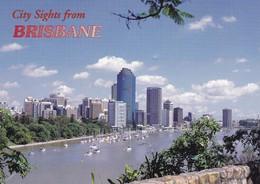 Postcard City Sights Brisbane From Kangaroo Point Cliffs Lookout [ Sunbird ] My Ref  B22323 - Brisbane