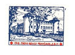 Vignette Militaire Delandre - Croix Rouge - Chavaniac Lafayette - Croix Rouge