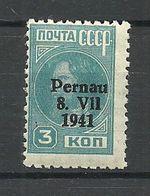 ESTLAND Estonia 1941 Occupation Pernau Michel 3 A * - Occupation 1938-45
