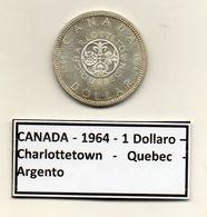 Canada - 1964 - 1 Dollaro - Charlottetown - Quebec - Argento - (MW1177) - Canada