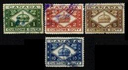 CANADA, Customs, B&H 1/4, Used, F/VF - Fiscaux