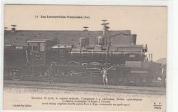 CPA-LOCOMOTIVES FRANCAISES (EST)Machine N°3718,à Vapeur Saturée, Compound à 4 Cylindres, Tiroirs Cylindriques - Spoorwegen