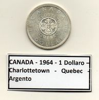 Canada - 1964 - 1 Dollaro - Charlottetown - Quebec - Argento - (MW1178) - Canada