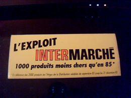 Autocollant  Publicite Non Utilisé Ancienne Pub D Intermarché De 1985 - Stickers