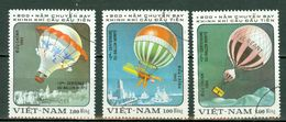 Vietnam 1983 - Ballons, Baloons  (3 Val.) Obl. -  Gebr. - Used - Viêt-Nam