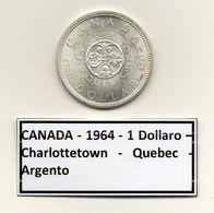 Canada - 1964 - 1 Dollaro - Charlottetown - Quebec - Argento - (MW1179) - Canada
