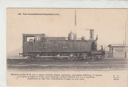 CPA-Les Locomotives Française (EST) Machine-tender N° B. 718,àvapeur Saturée,simple Expansion,mécanisme Intérieur, - Railway