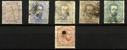 2109- España Nº 126, 128T, 116a, 121/2 Y 124 - 1872-73 Reino: Amadeo I