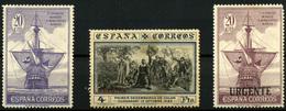 2111- España Nº 538, 544 Y 546 - 1889-1931 Kingdom: Alphonse XIII
