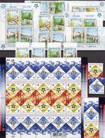 EUROPA Bosnien 339/2,ZD,VB,Bl.13A,Ukraine 766/7,ZD+KB ** 75€ Stamp On Stamps Ss Se-tenant Sheetlet Bf 50 Years CEPT - Nature