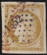 France    .    Yvert  1    ( 2 Scans )         .     O     .   Oblitéré - 1849-1850 Cérès