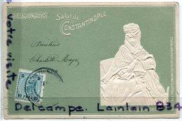 - Salut De CONSTANTINOPLE- ( Turquie ), Femme Turque Noble, Ancienne, Rare, épaisse, TBE, Scans.. - Turkey