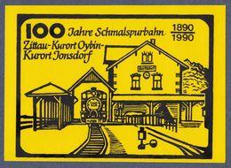 Aufkleber / 100 Jahre Schmalspurbahn (1890-1990) Zittau-Kurort Oybin-Kurort Jonsdorf - Stickers