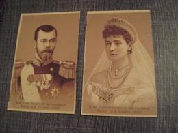Russie Tsar NICOLAS II Et Impératrice 1896 PARIS - Photos