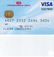 VISA Stopanska Banks Greece In Macedonia - Credit Cards (Exp. Date Min. 10 Years)