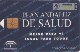 TARJETA TELEFONICA DE ESPAÑA USADA. 09.98 (399). PLAN ANDALUZ DE SALUD. - Spain
