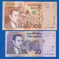 Maroc  2  Billets - Maroc