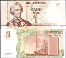 Transnistria 1 Ruble 2007 UNC - Bankbiljetten