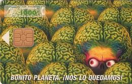 TARJETA TELEFONICA DE ESPAÑA USADA. 01.97 (402). CINE - MARS ATTAKS - Spain