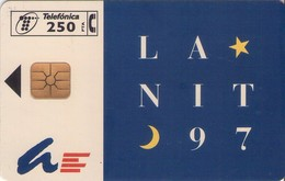 TARJETA TELEFONICA DE ESPAÑA USADA. 10.97 - TIRADA 6000 (403). LA NIT 97. - Spain