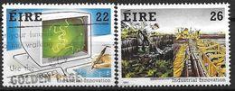 Irlande 1985 N°580/581 Oblitérés Réalisations Techniques - Gebraucht
