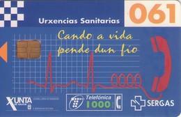 TARJETA TELEFONICA DE ESPAÑA USADA. 09.98 (405). URXENCIAS SANITARIAS 061. - Spain
