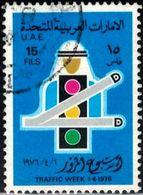Traffic Week, Traffic Lights & Signals, United Arab Emirates Stamp SC#62 Used - Emirats Arabes Unis