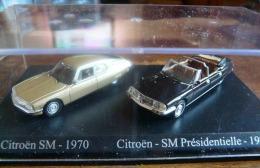 CITROEN SM 1970 ET SM PRESIDENTIELLE 1972 DUO METAL UNIVERSAL HOBBIES  ATLAS ECH 1/87 HO 2 SCAN - Cars & 4-wheels