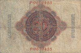 ALLEMAGNE 20 MARK 1914 VG+ P 46 - 20 Mark