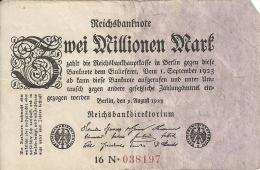 ALLEMAGNE 2 MILLIONEN MARK 1923 VF P 103 - [ 3] 1918-1933 : République De Weimar