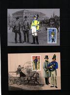 Deutschland / Germany DDR 1986 Historische Posuniformen Michel 2997-3000 Maximumcards - Post