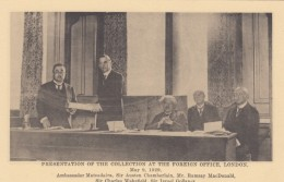 Postcard-like Card Showing Japan Ambassador To Britain, Matudaira, With Sir Austen Chamberlain At Foreign Office - History