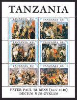 Tanzania, Scott #699, Mint Never Hinged, Rubens, Issued 1991 - Tanzania (1964-...)