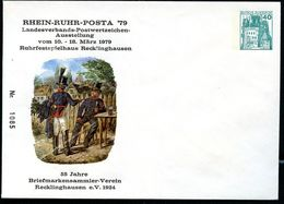 Bund PU110 D2/023 Privat-Umschlag POSTILLIONE RHEIN-RUHR-POSTA Recklinghausen - Post