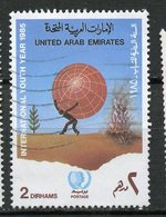 UAE 1985 2d Globe Issue  #206 - Verenigde Arabische Emiraten