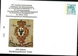 Bund PU110 D2/024 Privat-Umschlag PREUSSISCHES POSTHAUSCHILD Recklinghausen 1979 - Post