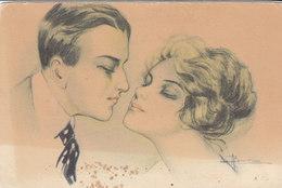 Cpa 2 Scans A Busi Illustrateur N4236 Milano Couple Amoureux - Busi, Adolfo