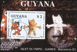 Guyana (Guyane) 1988 Olympic Games Korea, 1992 Barcelona Baseball Used Cancelled Block, M/S (U-33) - Summer 1988: Seoul