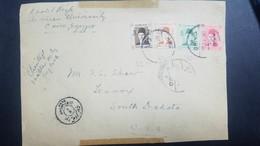 O) 1941 EGYPT, FRONT LETTER, KING FAROUK-SCOTT A66.SET. COVER CENSORSHIP, FROM CAIRO  TO USA - Egypt