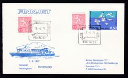 HELSINKI HELSINGFORS TRAVEMÜNDE HELSINKI HELSINGFORS FINNJET 13.5.77 Auf - Stamps