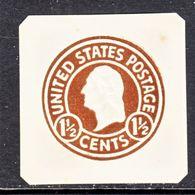 US CUT  SQUARE  U 481   *   1925 - Postal Stationery