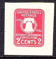 US CUT  SQUARE  U 522  Die 1   *   1926 ISSUE - Postal Stationery