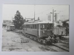 SUISSE (Canton De VALAIS) MONTHEY Livraison Des L'automotrices BFe 4/4 5 Et 7 Gare CFF En 1969 - BVA 184 - Trains