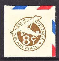 US CUT  SQUARE  U C 7    *   1932  ISSUE - Postal Stationery