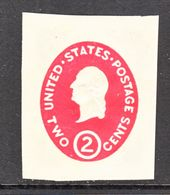 US CUT  SQUARE  U 533 A     *   1950  ISSUE - Postal Stationery