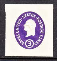 US CUT  SQUARE  U 534 C   Die  3     *   1950  ISSUE - Postal Stationery