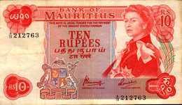 MAURICE 10 ROUPIES De 1967nd  Pick 31c - Mauritius