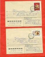 Tadjikistan 1992. Two Envelope Passed The Mail.Tadjikistan-Uzbekistan. - Tajikistan