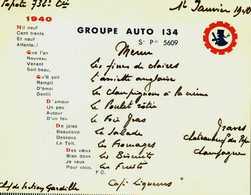 Menu.GUERRE 39/45..TRÈS RARE DU GROUPE GUIGNOL 1940....63..CLERMONT - Menus